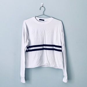 Brandy Melville Striped Cropped Tee
